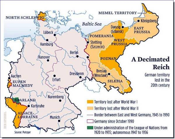 Military Histories Post War Germany - Germany map shape